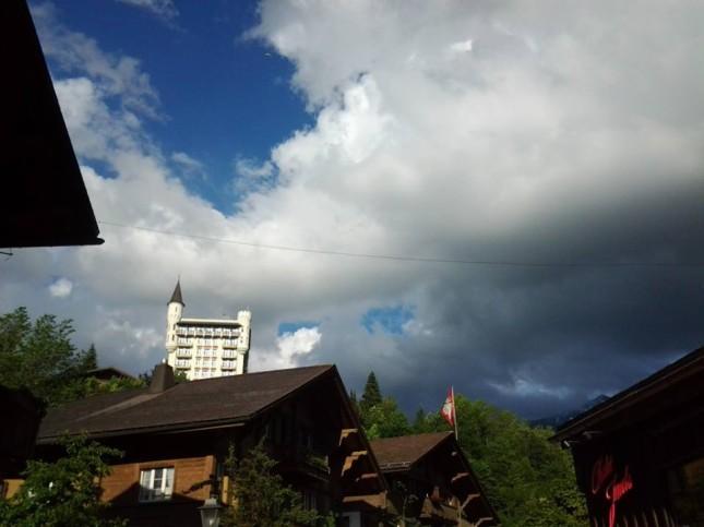 Il Palazzo di Gstaad, vista dal centro città