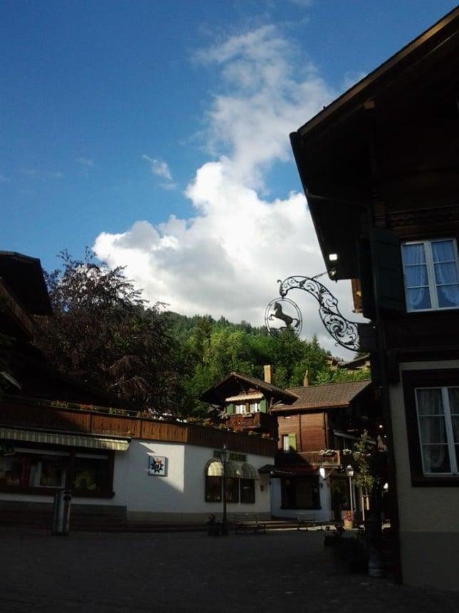 Il centro folklorico di Gstaad (Svizzera)