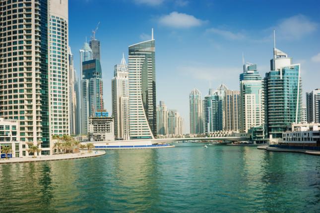 Dubai Marina, quartiere costruito su un canale lungo 3 km