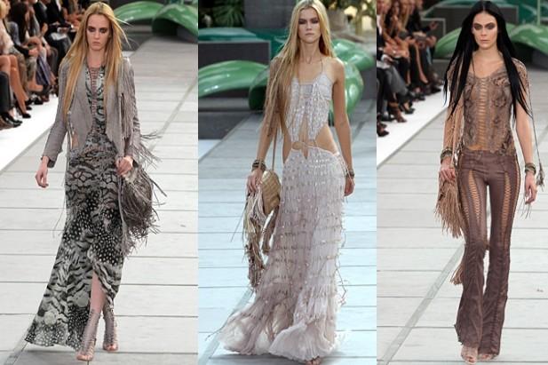 Lusso e glamour: gli stilisti come Cavalli e Blumarine ripropongono le frange