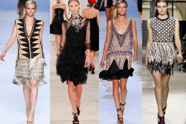 Frange e lustrini sono l'irrinunciabile dress corde di stagione. Le proposte di Etro Gucci e Bulmarine