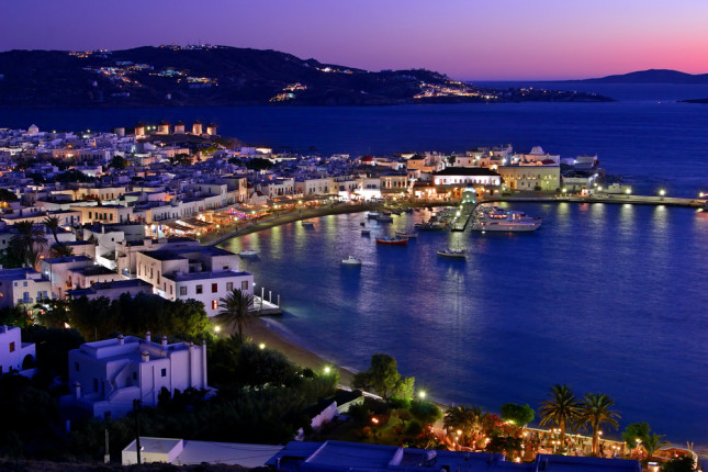 La notte a Mykonos