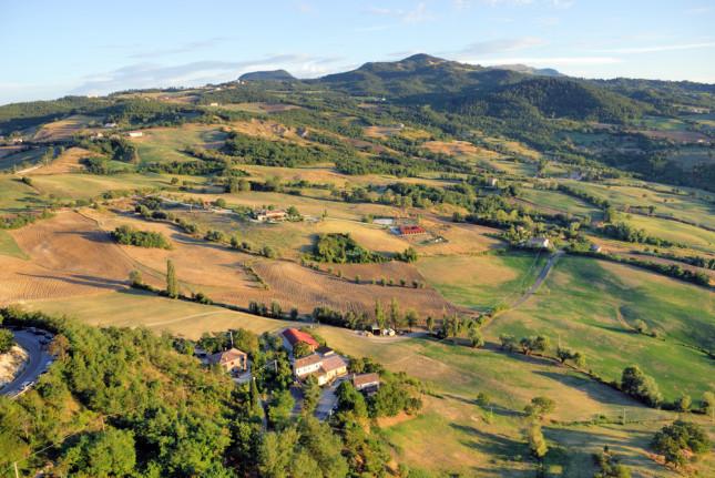 Le belle colline della Romagna