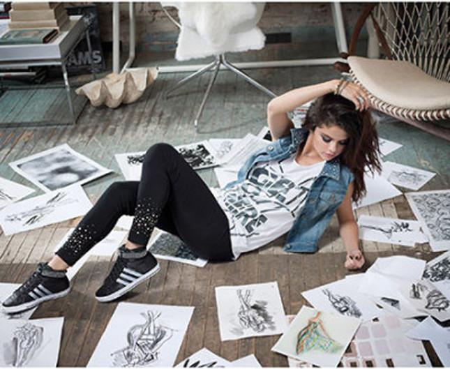 Selena Gomez nella campagna adidas Neo Label