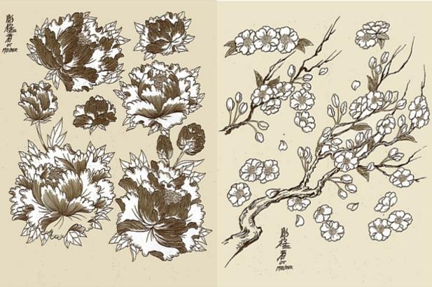 Voglia di fiori? Ecco crisantemi giapponesi e fiori di ciliegio / by Horimouja