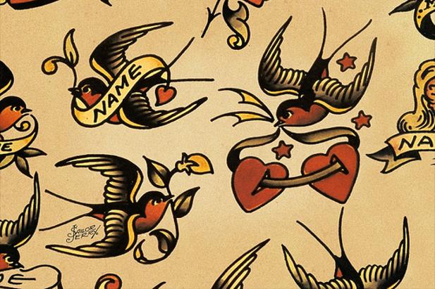 Rondini e cuori: disegni di Sailor Jerry