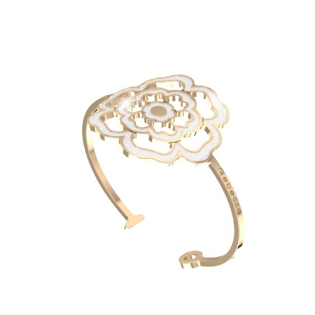 Bracciale Rebecca color oro  fiore ricamo