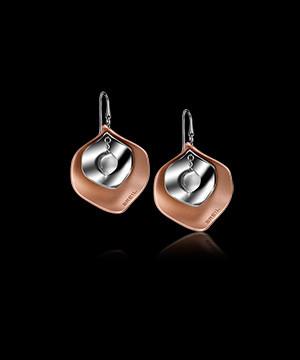 Breil orecchini swing alluminio nodizzato rosa e acciaio bilux