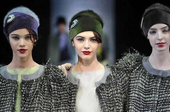 Cappelli Emporio Armani collezione fall-winter 2013-2014