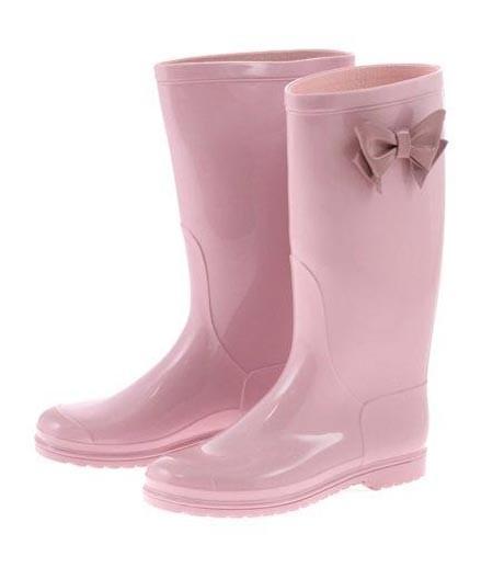 Stivali da pioggia Camomilla con fiocco laterale