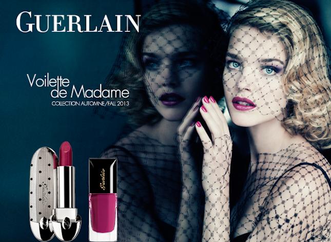 Voilette de Madame di Guerlain: lipstick e smalto sono fucsia