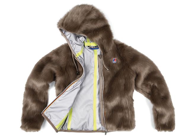 Alcune pellicce sono state concepite per essere unisex, mentre il taglio si conferma essere quello classico di K-Way, ovvero la giacca a vento o la felpa.