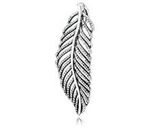 Pandora pendente per collana con piuma argento
