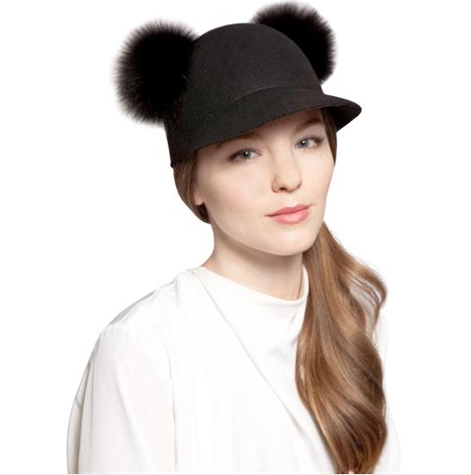 Cappello baseball Kim Felix in feltro di lana di Eugenia Kim