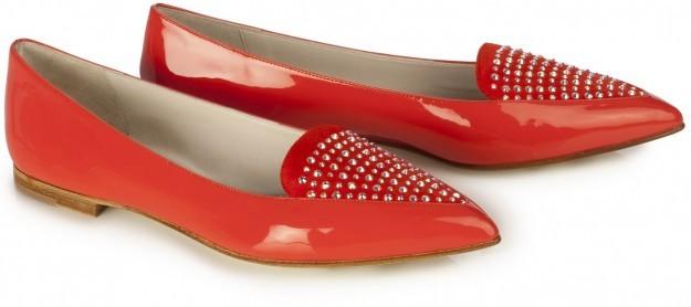 Ballerine a punta rossa con borchie di Loriblu