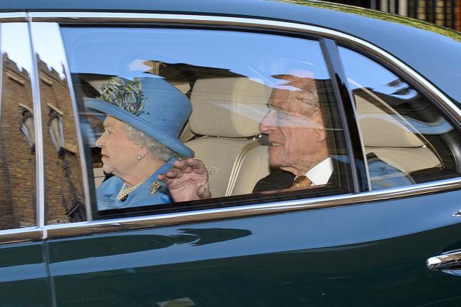 L'arrivo a St James's Palace della regina Elisabetta e il principe Filippo duca di Edinburgo