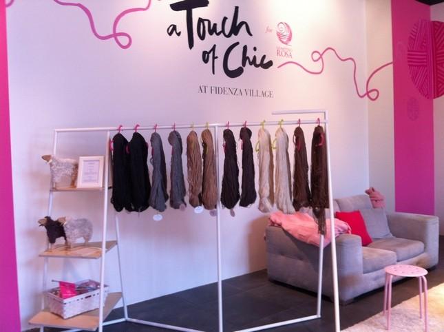 Lane in esposizione nella pop up boutique Gomitolo Rosa