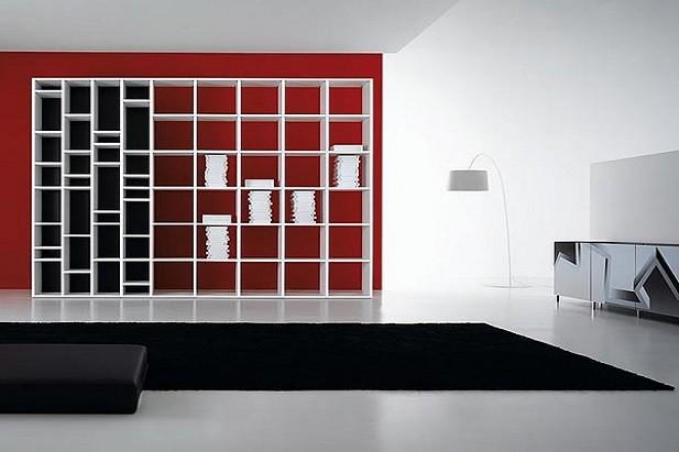 Libreria modulare in laminato prodotto dalla ditta de Rosso