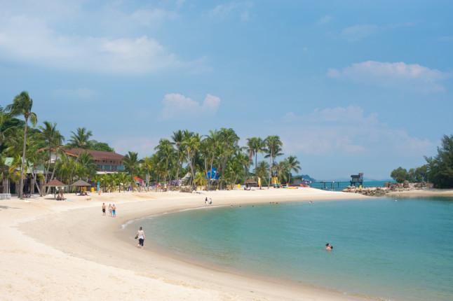 Le spiagge attorno a Singapore sono rinomate