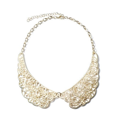 Colletto bianco di Claire's nero con perle
