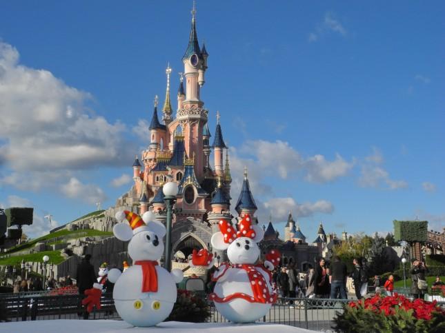 Il castello della Bella Addormentata in versione natalizia