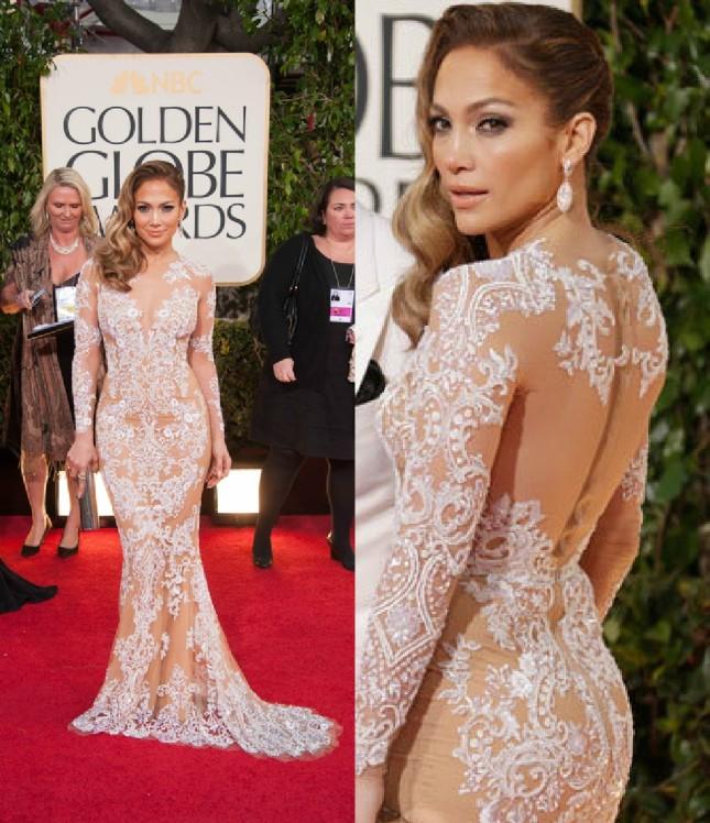 Jennifer Lopez ai Golden Globes ha indossato un altro abito di Zuhair Murad