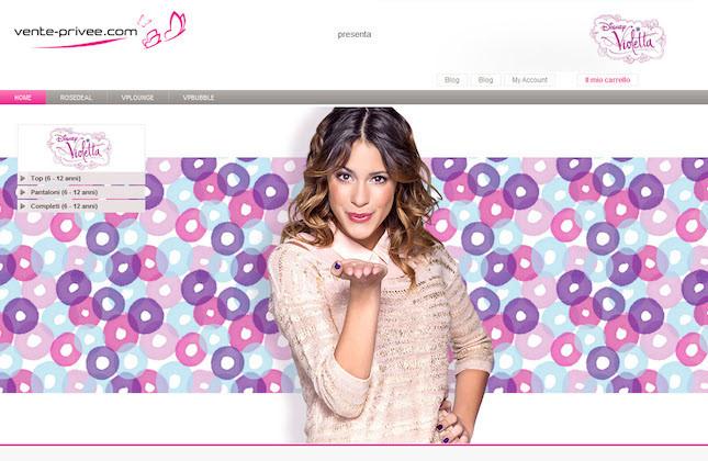 Dal 7 novembre su Vente-privee.com vendita esclusiva di capi di abbigliamento di Violetta