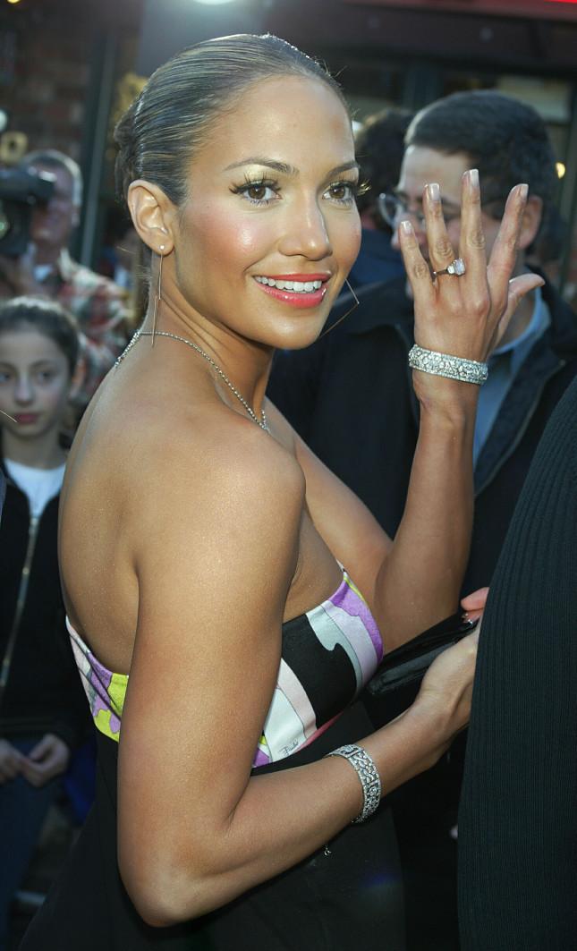 Jennifer Lopez alla Premiere del film Daredevil, febbraio 2003