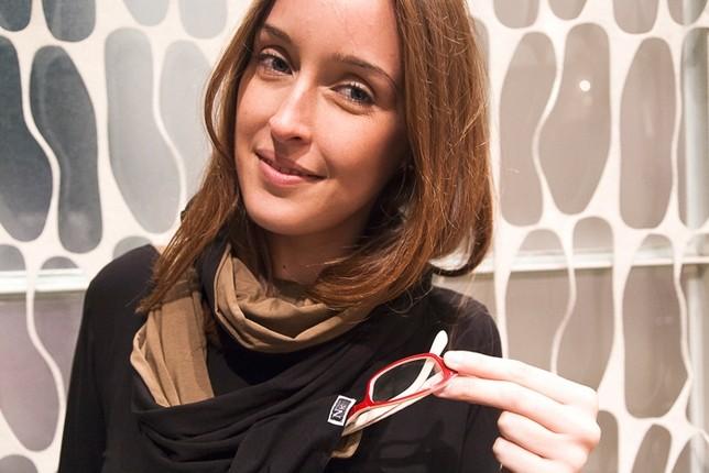 Nella tasca dello scaldacollo si possono inserire gli occhiali - foto Stefania Patrizi