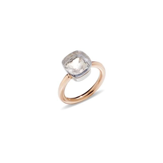Pomellato propone un anello in oro rosa, modello