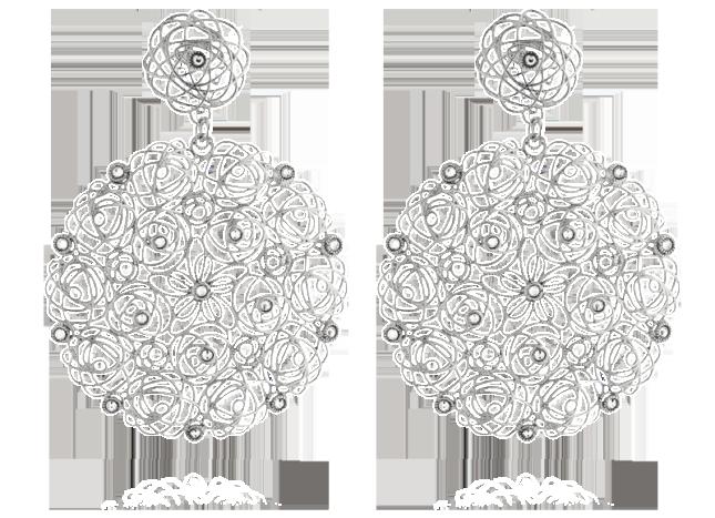 Stroili Oro, collezione fall-winter 2013: orecchini in argento e cristalli