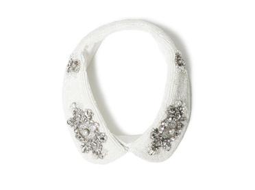 Colletto bianco di Zara con strass