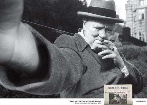 Il finto autoscatto di Sir Winston Churchill