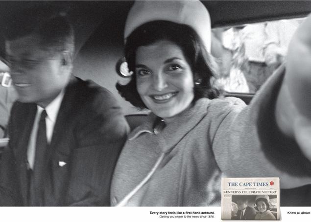 Il finto autoscatto di Jacqueline Kennedy