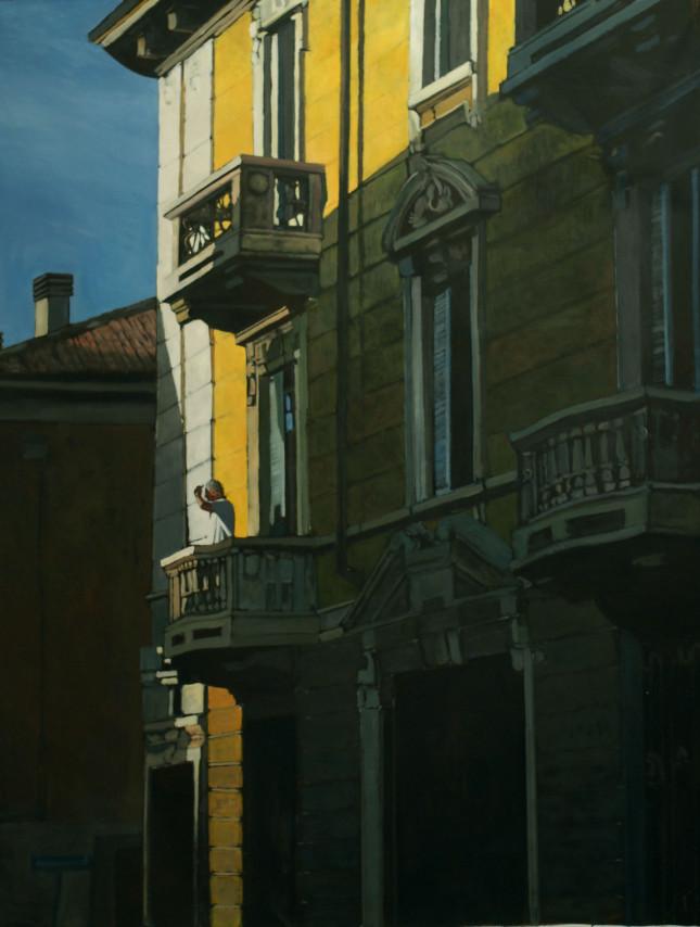 Milano, olio su tela, 194x150cm