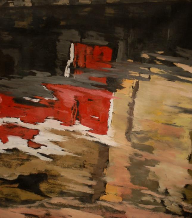 Milano 16, olio su tela, 80x75cm
