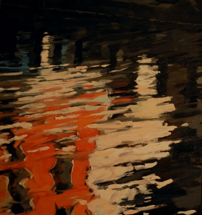 Milano 18, olio su tela, 75x70cm