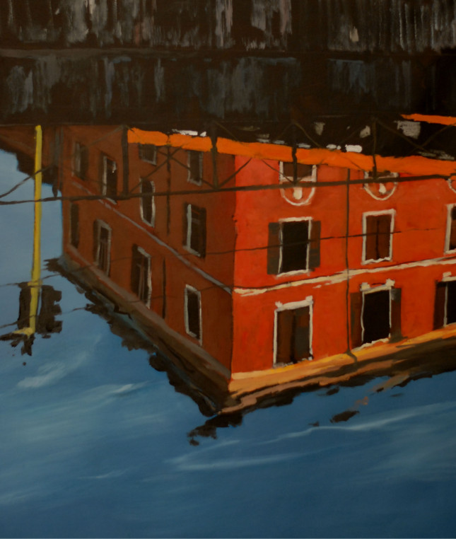 Milano 21, olio su tela, 100x125 cm