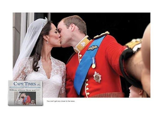 Il finto autoscatto del Royal Wedding di William e Kate
