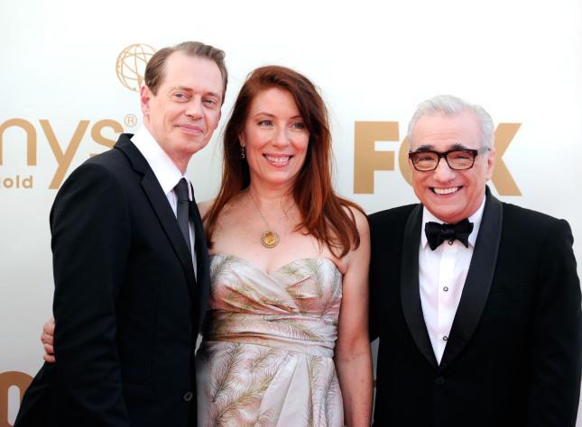 Steve Buscemi star della serie tv Boardwalk Empire con il produttore dello show Martin Scorsese.
