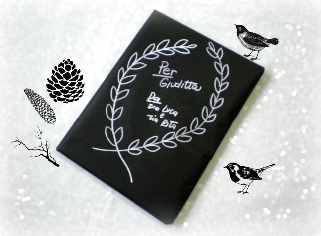 Una carta da pacco nera per un eccezionale effetto lavagna