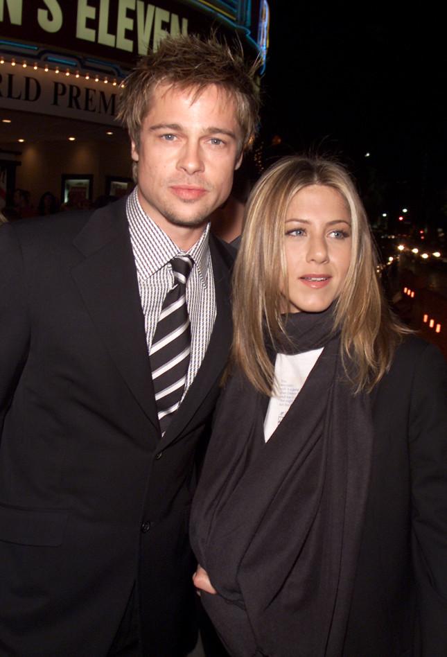 Brad Pitt e Jennifer Aniston alla premiere di Ocean's Eleven