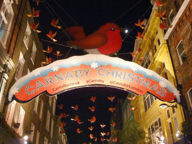 Carnaby Street Lights, Natale 2013 / golondon.about