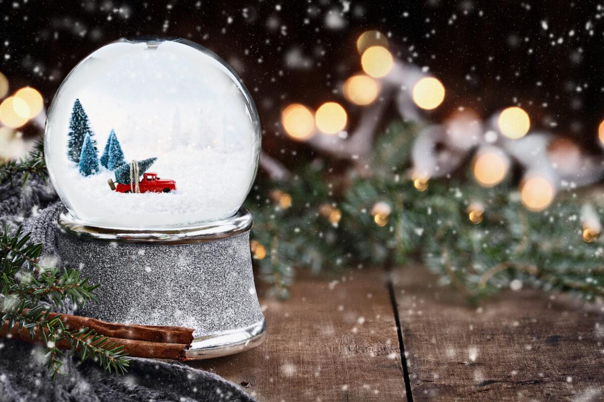Palla di Natale con glitter fai-da-te