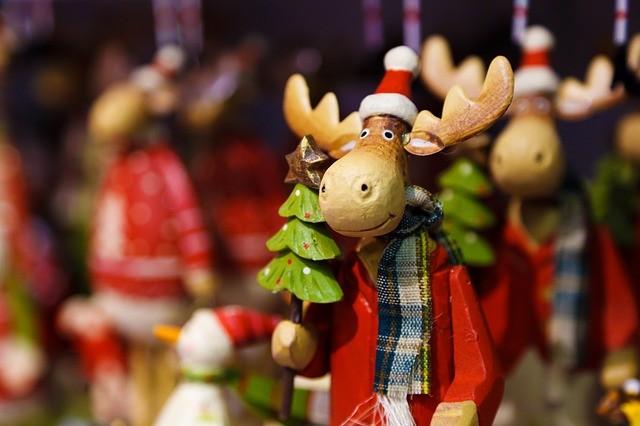 Le renne addobbo per l'albero di Natale
