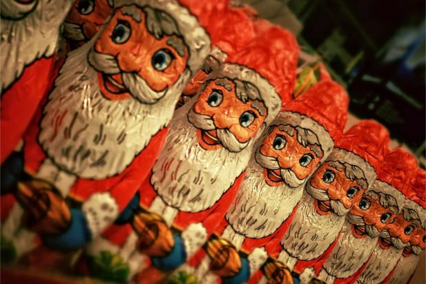 Babbo Natale di cioccolato, per un albero dolcissimo