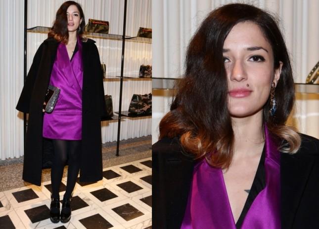 Eleonora Carisi al cocktail party di Valentino