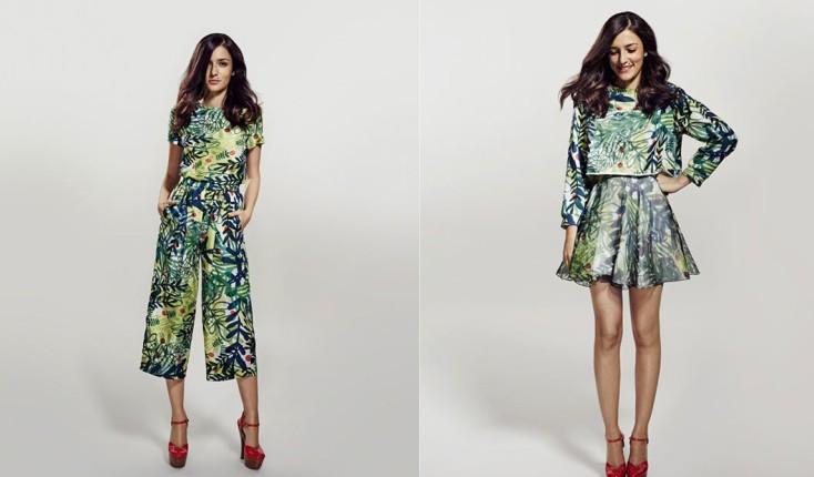 Total look stampa tropical per la collezione Eleonora Carisi for Zalando