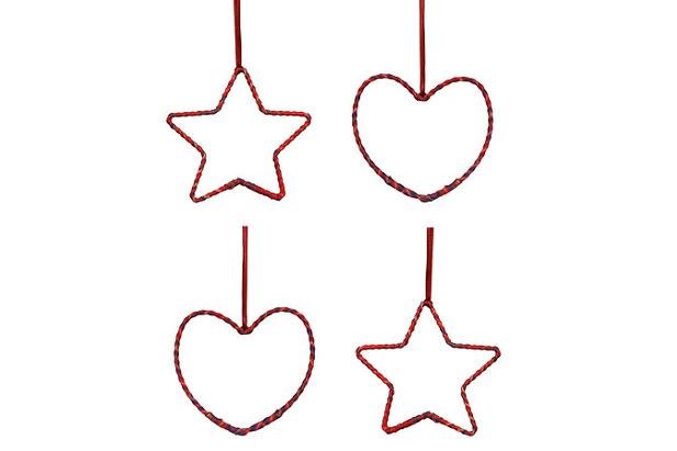 Cuori e stelle negli addobbi Ikea