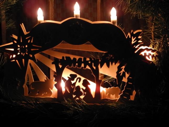 Il simbolo del Natale in Trentino si trova spesso illuminato alla finestre